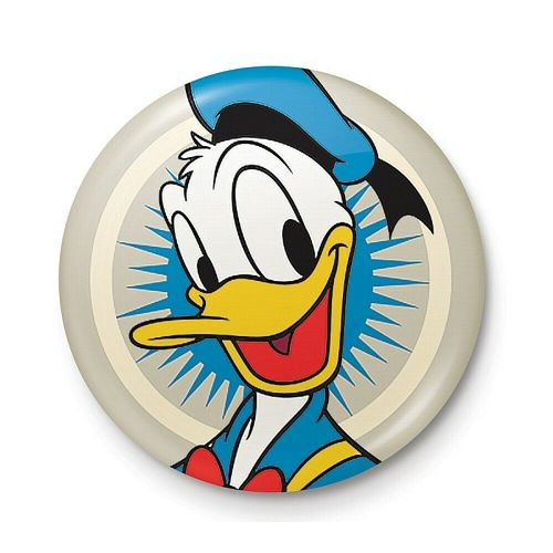Disney Classic Donald Duck Pose Button Badge